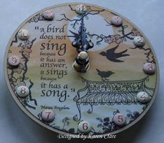 Birdsong by Karentheclocklady on Etsy, £25.00