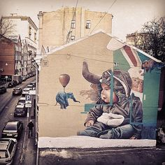 TelmoMiel artist duo have finished this fine wall in Mosco… | Flickr