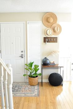 An easy front door makeover on a budget.
