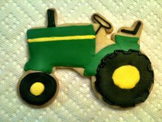 12 John Deere tractor cookies by BakeMyDayCookies on Etsy, $38.00