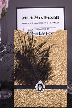 The Great Gatsby Invitations Lela Cornet Event Planning Gatsby