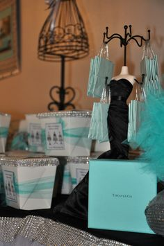 Tiffany OFF! My very own Tiffany Co Birthday Party. Tiffany Blue Party, Tiffany Birthday Party, Tiffany Theme, Tiffany Wedding, 40th Birthday Parties, Sweet 16 Birthday, Tiffany And Co, 16th Birthday, Men Birthday