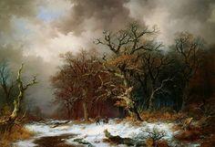 Remigius van Haanen Faggot Gatherers in Winter Landscape