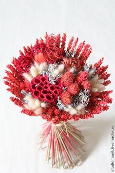 букет из сухоцветов - Розочка - коралловый,сухоцветы,букет,букет из сухоцветов