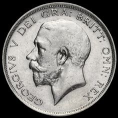 1914 George V Silver Half Crown, Scarce