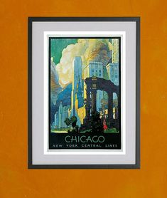 Chicago New York Central Lines 1929  85x11 by TwoDovesPrinting, $7.00