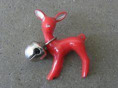 Vintage Christmas Deer Pin