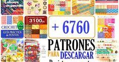 Es verdad. Son más de 6760 patrones de tejido gratis para descargar! He decidido empezar el año 2016 con todo, por eso te comparto tantos p...