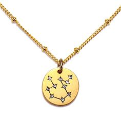 AQUARIUS Jan 20 - Feb 18 Humanitarian, visionary, individualistic, and innovative, especially in the sciences and digital realm. This Star Maps Necklace features the Aquarius Constellation charm paire