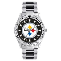 Men's Game Time NFL Heavy Hitter Sports Watch - Silver - Pittsburgh Steelers