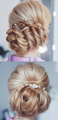 Best Wedding Hairstyles With Headband Curly Wedding Hair, Simple Wedding Hairstyles, Wedding Hair And Makeup, Prom Hair, Hair Makeup, Hairstyle Wedding, Wedding Hair Inspiration, Up Hairstyles, Bridal Hairstyles