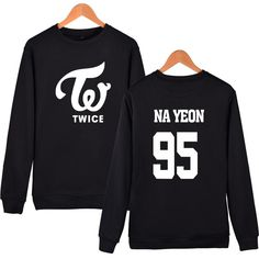 New KPOP TWICE Fashion Sweatershirt Women Harauku Member Name Printed Hoodies For Fans Pullover Fleece Hoodie Sudaderas Mujer  #love #fashion #cute #sweet #model #fashionista #streetstyle #cool #glam #dress