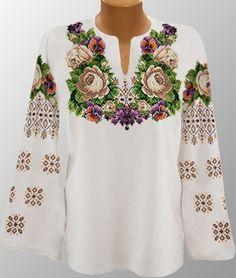 Ukrainian Beaded Blouse / Beaded Embroidery / Handmade - XS, S, M, L, XL, 2-4XL