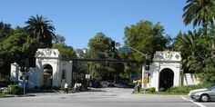 The gates of Bel Air, the neighborhood where Gabby's parents are hanging on by their fingernails. #WhereItBegan