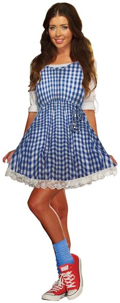 Attend your next Halloween Costume bash dressed as the fashionista teen Wren! Fun Size Wren Teen Costume includes a blue and white checkered dress and a colorful. Buy Costumes, Homemade Costumes, Cool Costumes, Teen Costumes, Homemade Halloween, Party Costumes, Disney Costumes, Halloween Inspo, Halloween Costumes For Teens