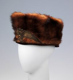 Hat 1912, American, Made of silk and fur. To see the source оf this item click on the picture. Please also visit my Etsy shop LarisaBоutique: https://www.etsy.com/shop/LarisaBoutique Thanks!