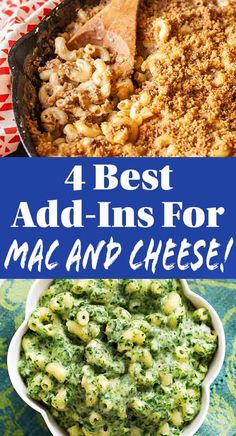 Simply Recipes - 4 Best Add-Ins for Macaroni and Cheese: Macaroni and cheese is the ultimate blank slate and delicious as is. Annie's Mac And Cheese, Mac Cheese Recipes, Mac And Cheese Homemade, Gnocchi Recipes, Macaroni Cheese, Pasta Recipes, Easy Homemade Recipes, Easy Chicken Recipes, Macroni And Cheese