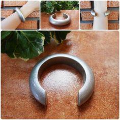 Wood Bangle Bracelet Eco-friendly Wooden Silver Natural Jewelry Thai | GoldenWorld - Jewelry on ArtFire