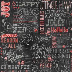 http://www.plushaddict.co.uk/windham-chalkboard-christmas-words.html Windham - Chalkboard Christmas Words - cotton fabric