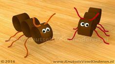Makkelijke Mieren van drie papieren slingeronderdelen Ant Crafts, Insect Crafts, Preschool Activities, Diy And Crafts, Arts And Crafts, Animal Crafts For Kids, Art For Kids, Toilet Paper Roll Crafts, Paper Crafts