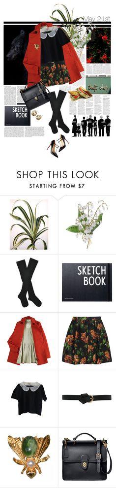 """May 21st"" by ebeleroderick ❤ liked on Polyvore featuring Fogal, Christian Louboutin, Nicki Minaj, Design Letters, Karen Walker, Miu Miu, Murphy, Coach, Anja and vintage"