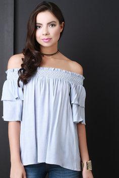 Bardot Flutter Sleeve Top – Style Lavish