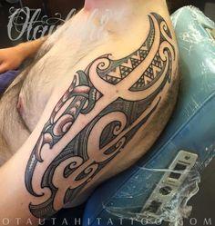 otautahi tattoo queenstown maori ta moko tamoko kirituhi shoulder tattoo tatau new zealand nz tribal design tama raihania