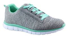 Womens Athletic Knit Mesh Running Sneaker Light Weight Go Easy Walking Casual Athletic Comfort Running Shoes Sneakers (8, Green)