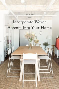 one of my favorite ways to add visual appeal to a space is with woven accents. be it a chair, rug, or even a light fixture, woven designs add a casual elegance to any interior while giving a nice, tactile quality to your home decor. click through for a few of my favorite ways to incorporate woven accents in your space.