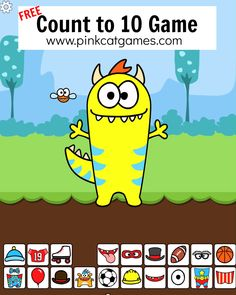 Count to 10 Monster Dress-up Game FREE GAME! Practice counting to 10 with ten frames using thi Virtual Games For Kids, Computer Games For Kids, Online Games For Kids, Free Games For Kids, Free Online Preschool Games, Kindergarten Math Games, Fun Math Games, Math Classroom, Vocabulary Games