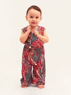 Funky baby romper for funky little girls baby overall by Anaoiss