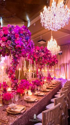 A Gorgeous Pink, Red & Purple Wedding Reception Decor By Prashe ...