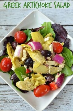 Greek Artichoke Salad Recipes - MommyMusings.com