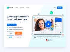 Video Call Conference App Design Website by Emy Lascan App Design, Landing, Conference, Website, Application Design