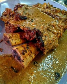 Iga bakar Makasar. Beef ribs with Indonesian herb and peanut sauce