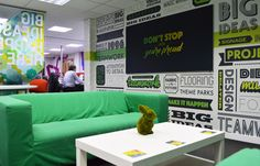 Creative graphics in an office environment
