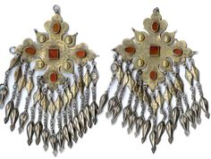 Very rare  chapraz tchanga design , early execution , silver gilt with carnelian ealry to mid 19th c (x collection Linda Pastorino, archives sold Singkiang)