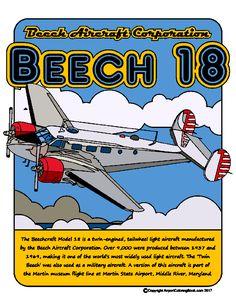 Airport Coloring Book Beech 18
