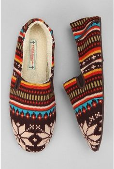 O'Hanlon Mills Fair Isle Slipper. Only $30.00!