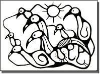 "Norval Morrisseau (Canadian/ Ojibway, - ""We must be child-like"", Simplicity of Spirit Kindergarten Art Lessons, Art Lessons For Kids, Artists For Kids, Native Art, Native American Art, Native Canadian, Jr Art, Haida Art, Aboriginal Artists"