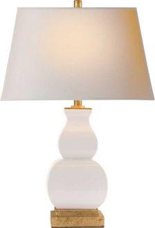 """FANG GOURD LAMP - EF Chapman Circa Lighting ($483 27"""" H x 18"""" W x 6"""" B)"""
