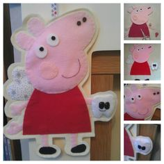 A4 Peppa Pig Tooth Faerie made out of felt https://www.facebook.com/AHeartlyCraft
