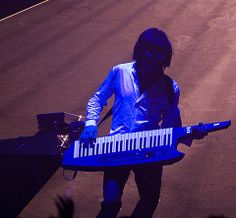 Jean-Michel Jarre on Roland AX-Synth Jean Michel Jarre, Electronic Music, Trance, New Age, Musical Instruments, Techno, Keyboard, Musicals, Stage