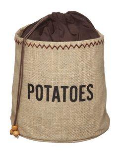 Bolsa De Arpillera Para Patatas Kitchen Craft Jute Storage Binpotato