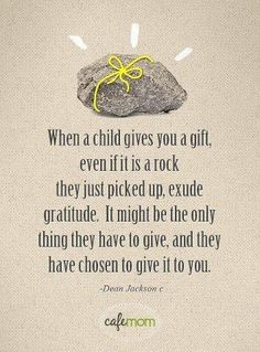 The value to the child is not based on money. Find out the value the child has placed on this gift.