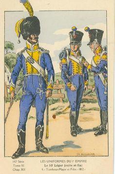 French; 10th Light Infantr, Drum-Major & Fifers, 1812