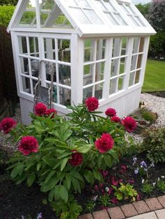 Green house made from old doors and pallets Pallet Designs, Potting Sheds, Shed Storage, Old Doors, House Made, Greenhouses, Pallets, Garden, Beautiful