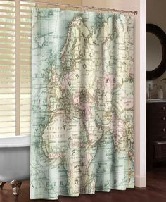 Hand Lettered US Map Blueprint Shower Curtain - Hand lettered us map black and white shower curtain