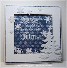 Kortparadis Kortpardis.blogspot.com Kort Card Håndlaget Handmade Homemade Scrapping Kortscrapping NorthStarDesign NSD snow christmas jul julekort stempel stempler stamp