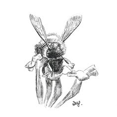 Bee illustration for the official theme of small. #Inktober 2016.  https://flic.kr/p/NnjhbZ